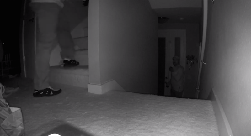 A camera in a Palo Alto home captures two burglars breaking in. The video of this burglary has been shared on Facebook by the Palo Alto Police Department in an effort to catch the burglars. Photo courtesy of the PAPD.
