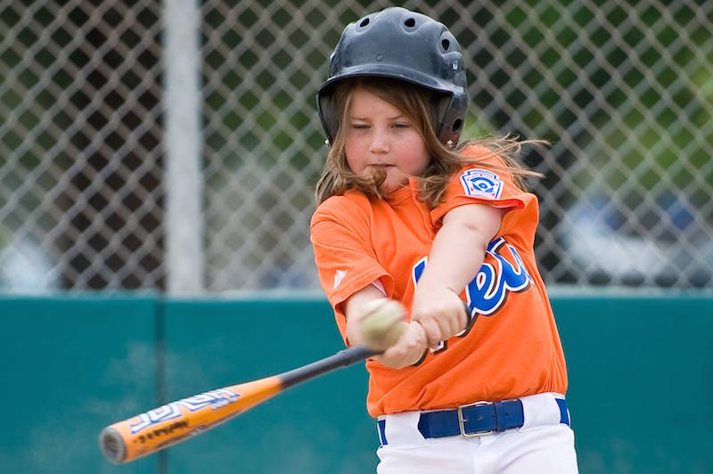 Frick began her playing career at a young age, participating in little league baseball in kindergarten before transferring to softball in sixth grade. Photo by Jeff Frick.