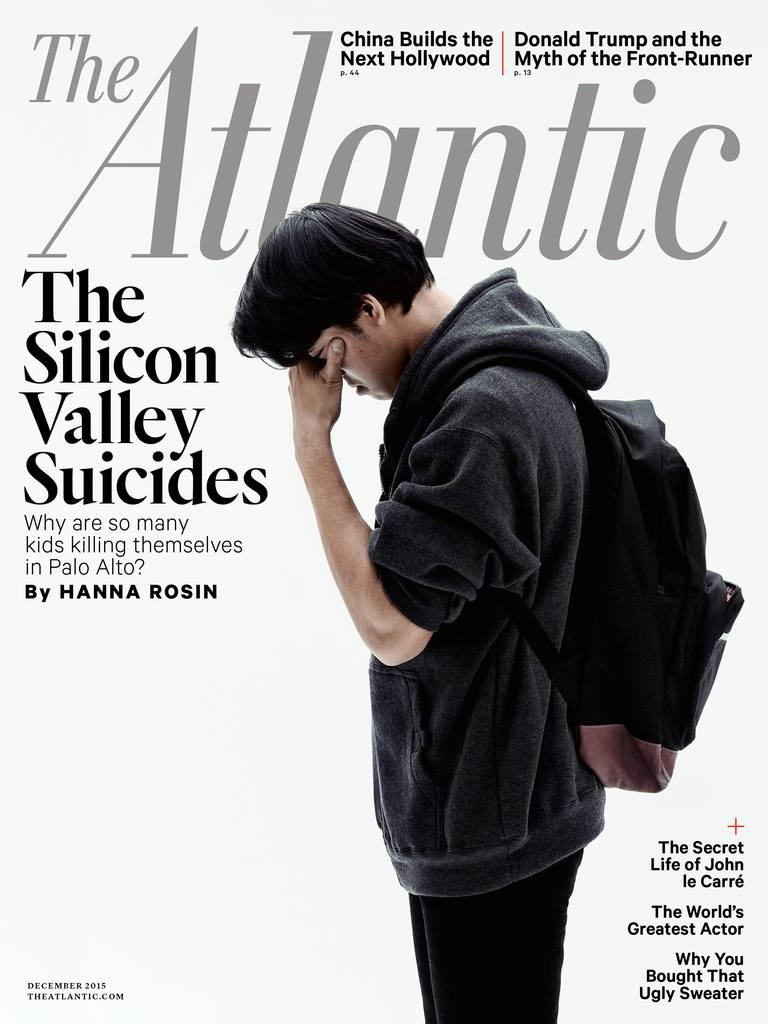 The cover of The Atlantic Magazine's December 2015 issue. The image and headline met with backlash and accusations of sensationalism from some community members. Courtesy of The Atlantic