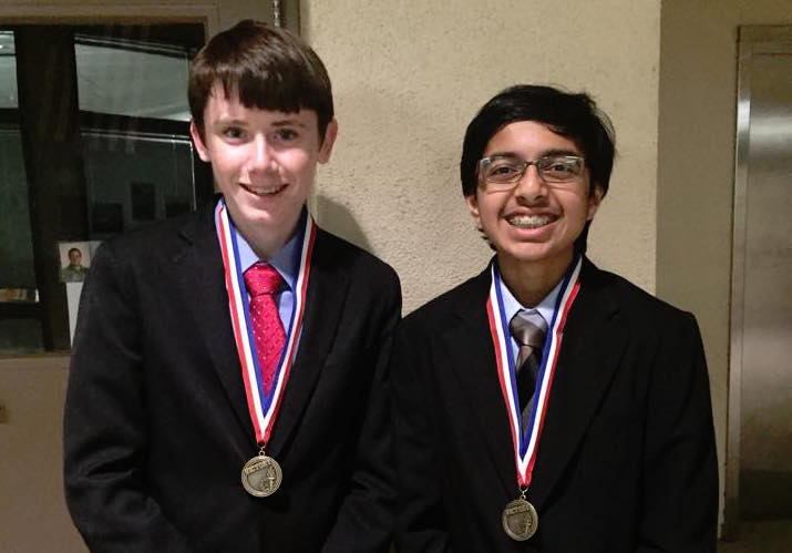 Freshman Dominic thibault and ___Ujwal Srivastava at the CFL