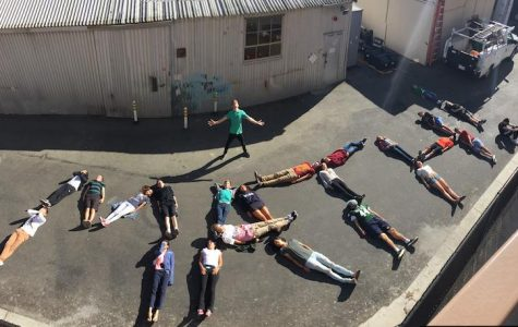 One of Friebel's favorite memories while teaching at Paly is when his class decided to go outside and spell out the word math by laying on the ground while he stood over them.