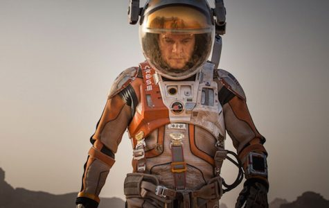 Matt Damon stars as astronaut Mark Watney in the space thriller The Martian. The Martian has been nominated for six Oscars.