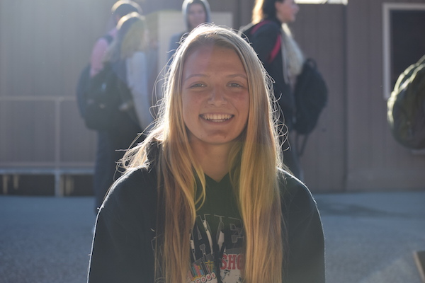 Freshman Chloe Japic is a first-year Varisty girls' soccer player. Photo: Emma van der Veen.