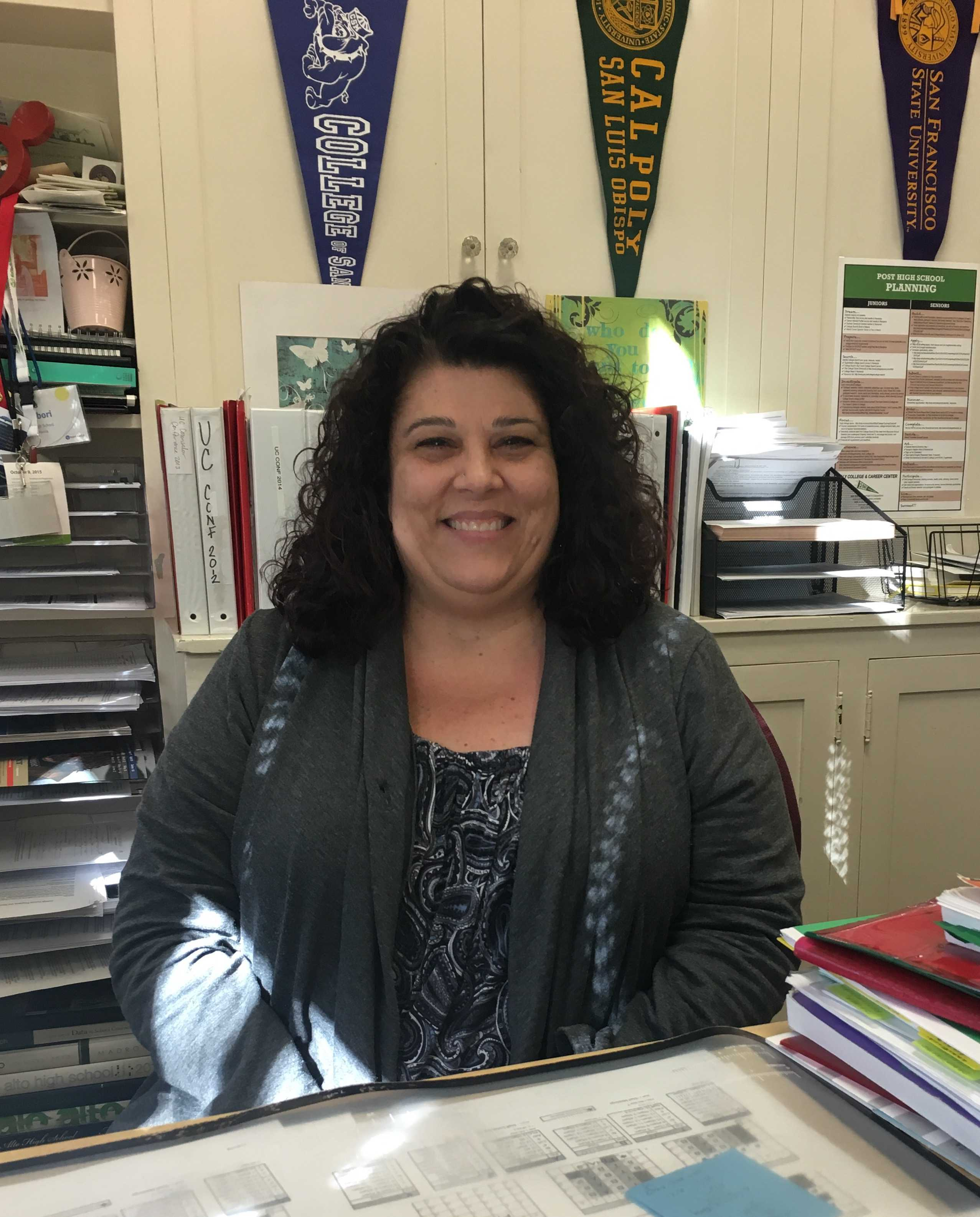 College counselor Sandra Cernobori has helped junior and senior students make post-high school plan for the last 11 years. Photo by Morgan Keller.