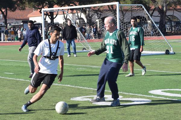 Students dominate Winter Rally soccer game