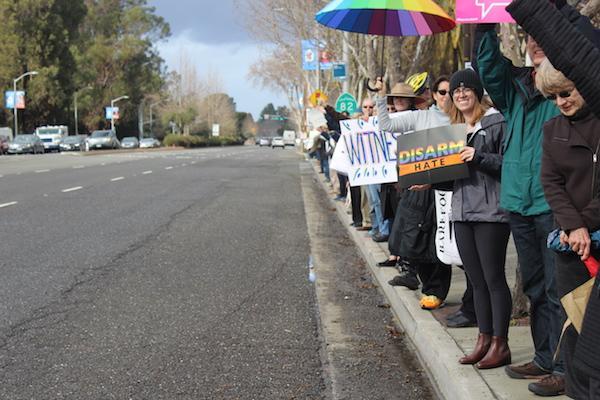 Slideshow: Local demonstrators make a statement on Inauguration Day