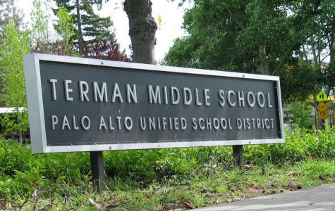 Terman Middle School sign