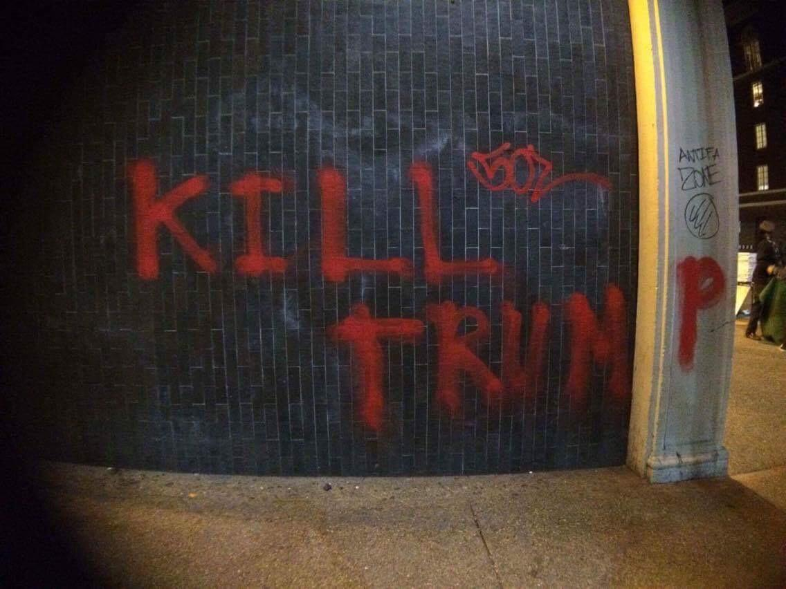 Graffiti from the protest at Berkeley