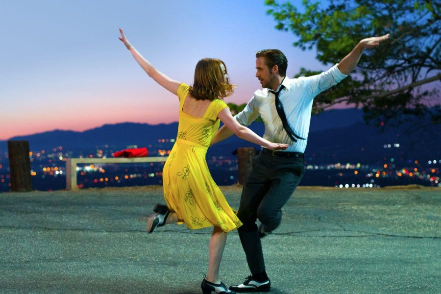 Actors' Emma Stone and Ryan Gosling exemplify their tap dancing skills in their iconic number 'A Lovely Night'. Photo Courtesy of 'La La Land'