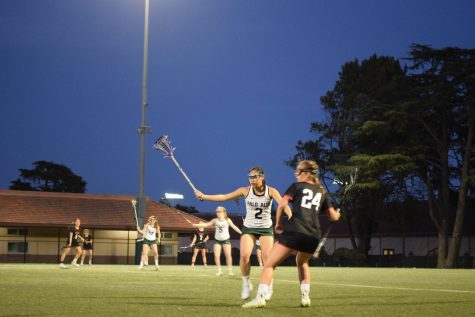 Girls' lax maintains first place in League following big win against rival Gunn