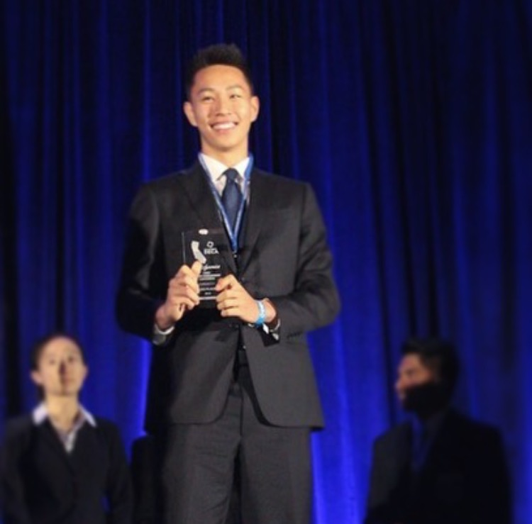 Senior Nicholas Zhao finished 3rd place in an accounting competition last year. His involvement in business clubs outside of school have increased his interest in the subject. Photo: Tatiana Wright