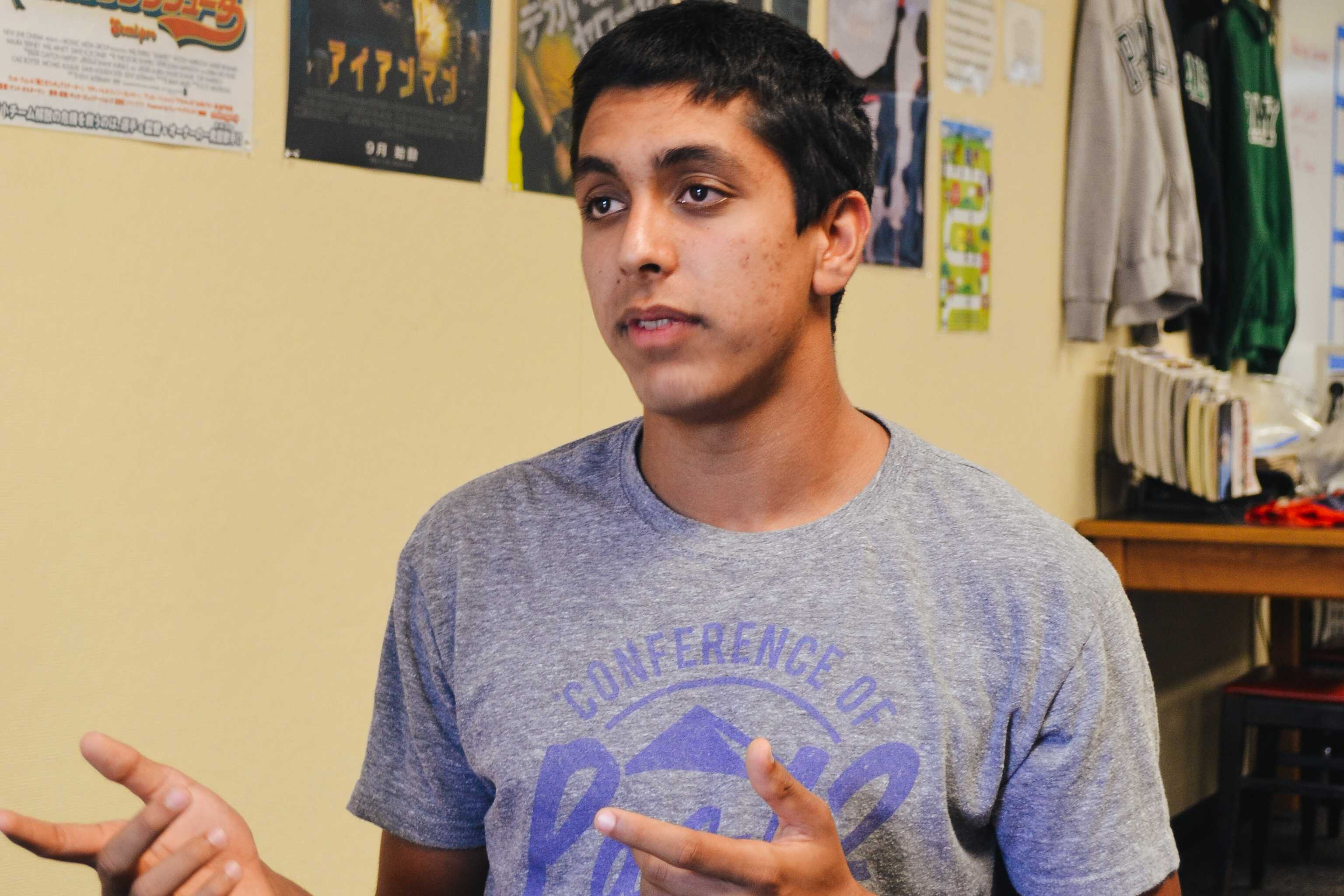 "Associated Student Body president Jaiveer Sandhu discusses his plans for Quadchella. ""We expect Quadchella to be popular among the students and look forward to the event,"" Sandhu said. Photo: Angelina Wang."