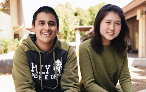 Seniors Tanay Krishna and Frances Zhuang celebrate their successes at debate tournaments the past weekend. Krishna won the 7th Annual Robert Garcia Invitational, while Zhuang received her first bid at the Greenhill Fall Classic.