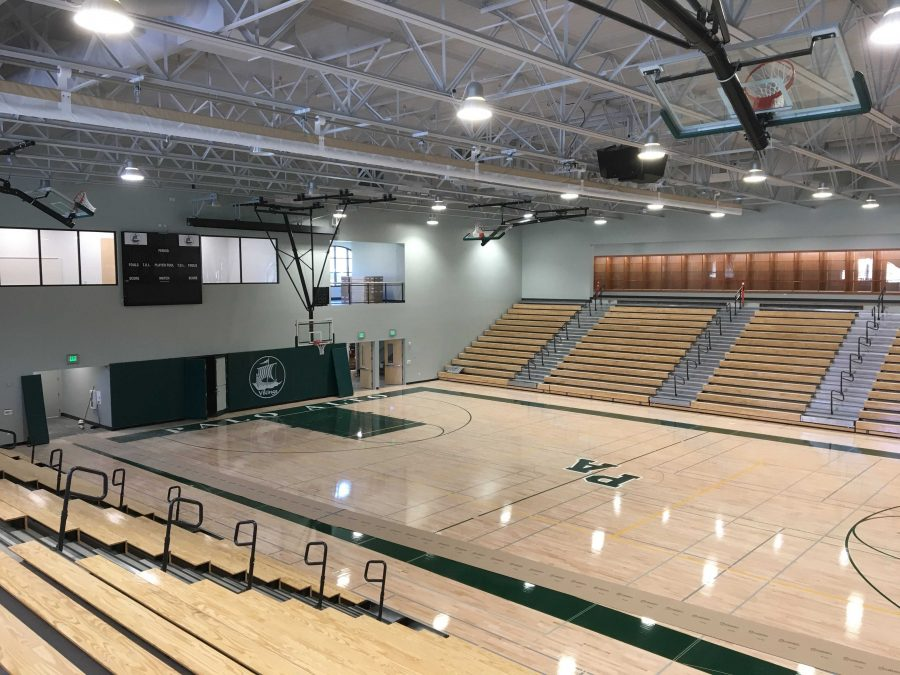 View of the main gym of the Peery Family Center. The facilities officially opened last week after the girls' volleyball home opener. Photo by Benner Mullin