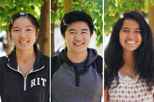 "The Paly Voice asked experienced club leaders what their advice for new clubs was. Senior Leila Tjiang, junior Andrew Shih and junior Caity Berry offer their insights. ""If you want to make a club, you're going to have to expect yourself to invest a good amount of time into making sure the club is successful,"" Shih said. Photo: Angelina Wang."