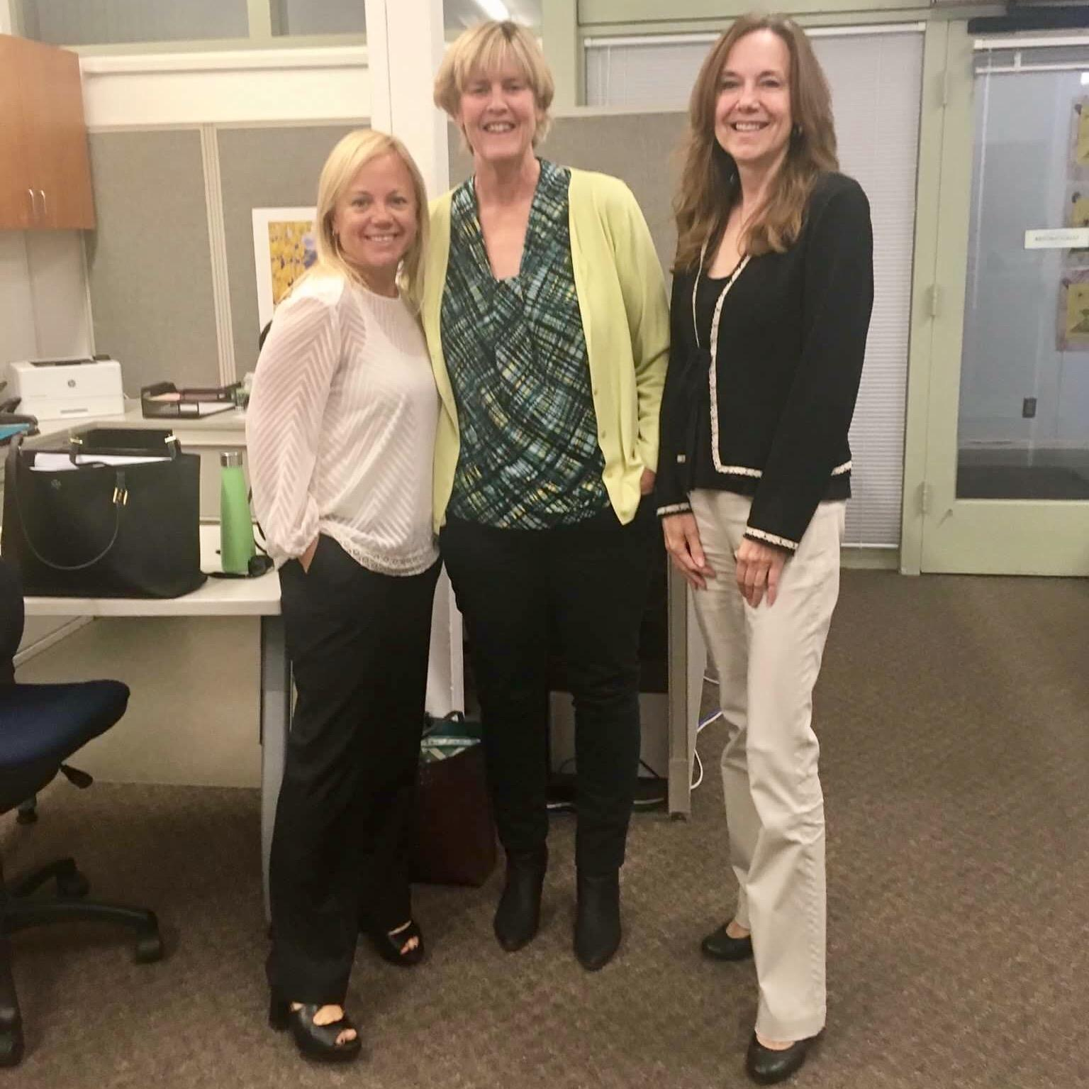 Hendricks works closely with many educators in the district, including Paly principal Kim Diorio and Gunn principal Kathie Laurence.