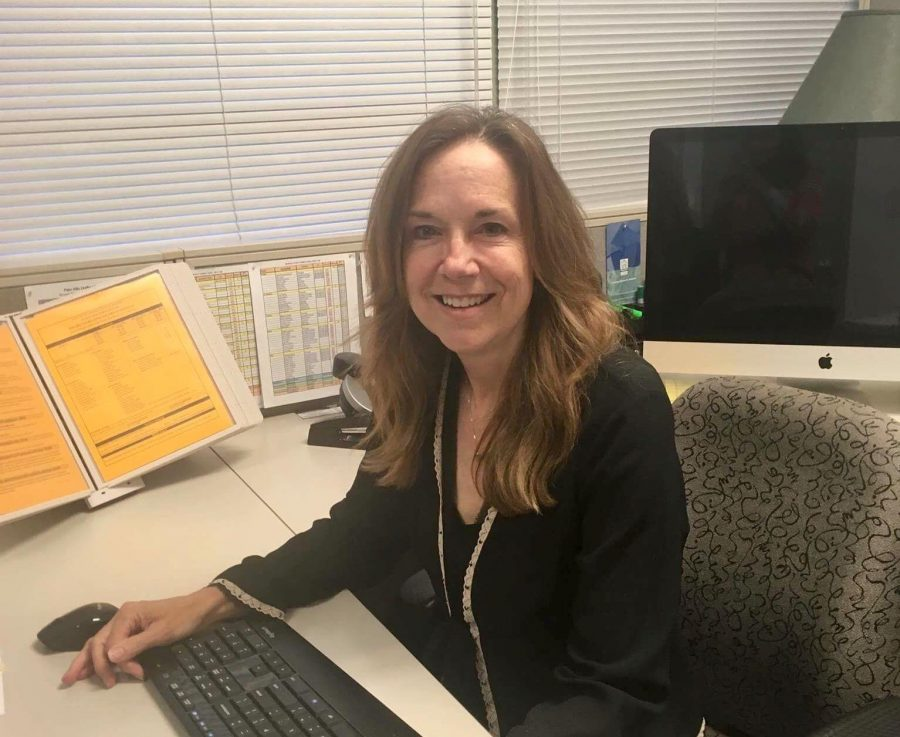 Interim Supt. Karen Hendricks spends her day going between the office of Assistant Superintendent of Human Resources and the office of interim superintendent.