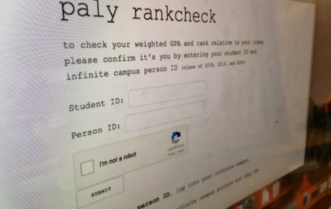 "A website that enables Paly students to view their class rank is circling about Paly community this morning. Administration has been notified of the apparent security breach and is responding. ""It makes me really sad to hear that this tool is out here and people are curious,"