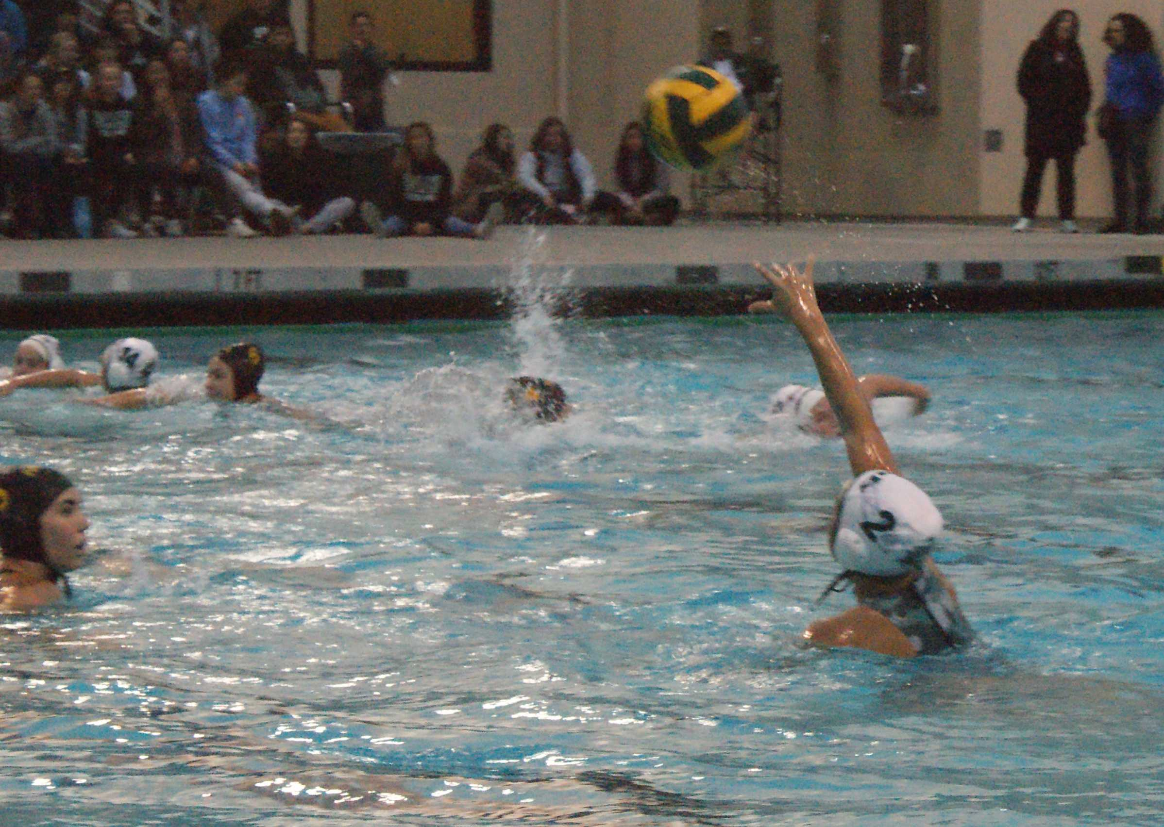 Sophomore postion Alexandra Lee throws the ball, crossing the Menlo Atherton Bears' (3-11, 0-1) defenses and landing safely in the hands of the Vikings (10-17, 3-8). The Vikings, taking on an early lead, tie with the Bears during the third quarter. However, after an intense and close game, the Vikings claim their victory in the Central Coast Section quarterfinals and advancing them to the CCS semifinals. Photo: Eric Yap