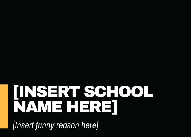 [Insert School Name Here]