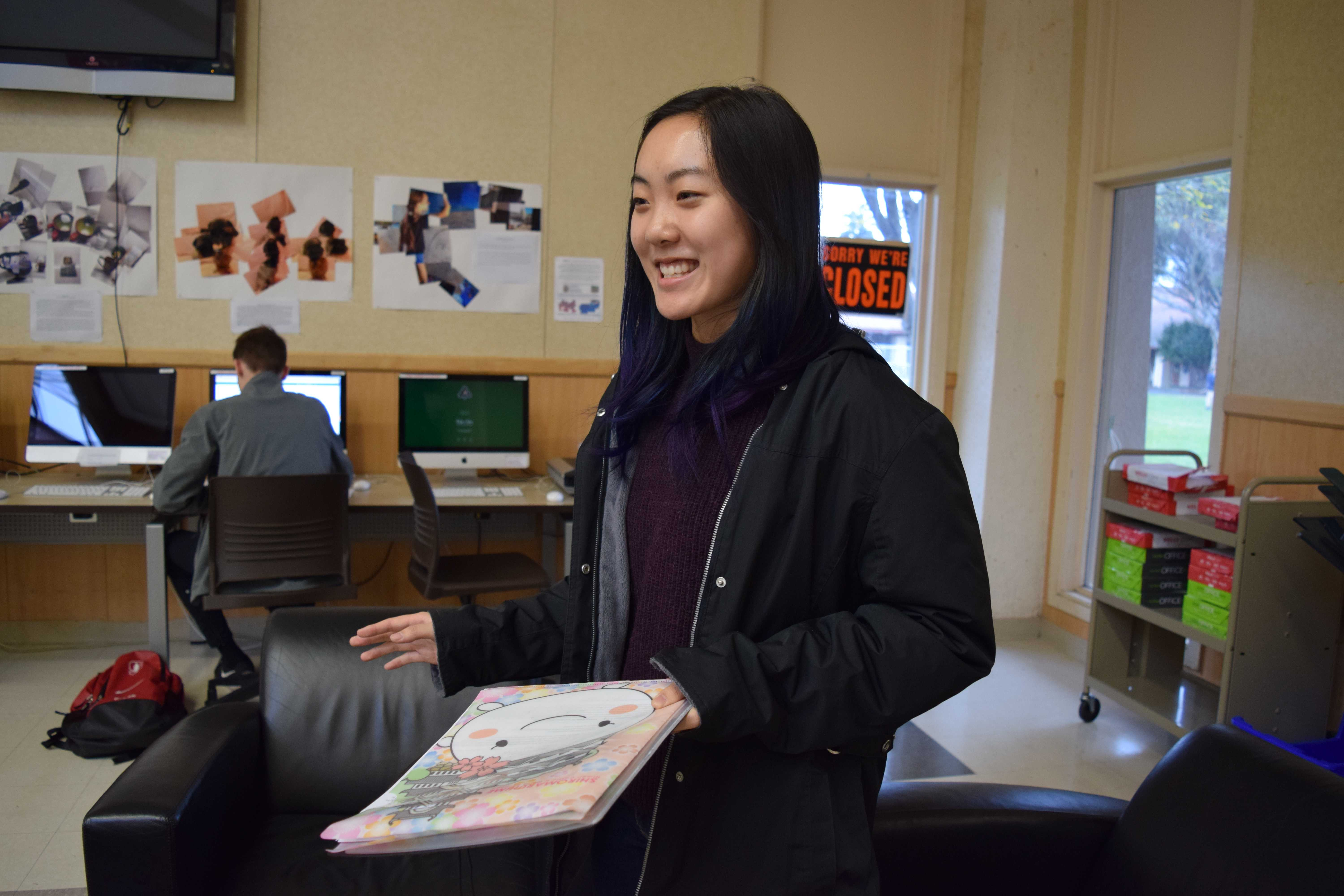 "Junior Grace Lam demonstrates how she prepares for a Congressional debate tournament which includes extensive research as well as speech planning. According to Lam, the preparation for this tournament took her over 15 hours. ""There's always a lot of preparation that goes into travel tournaments because the stakes are higher,"" Lam said."