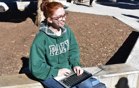 Junior Zage Phillips works on a coding assignment for her Advanced Placement Computer Science class. Phillips expressed support for the idea of a mandatory CS requirement, but added that students should be able to choose from a variety of programming-related classes.