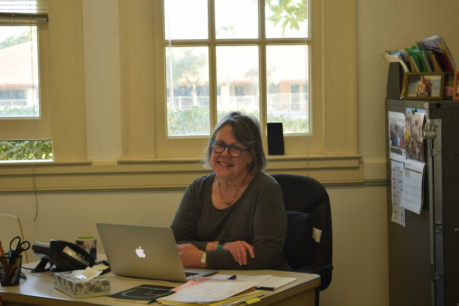 Paly nurse Jennifer Kleckner resides in her office in the Wellness Center. Kleckner is always open to students who are not feeling well during the day. I really want to be sure that I am giving students my best treatment, Kleckner says.