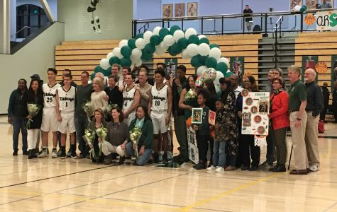 Boys' basketball dominates senior night