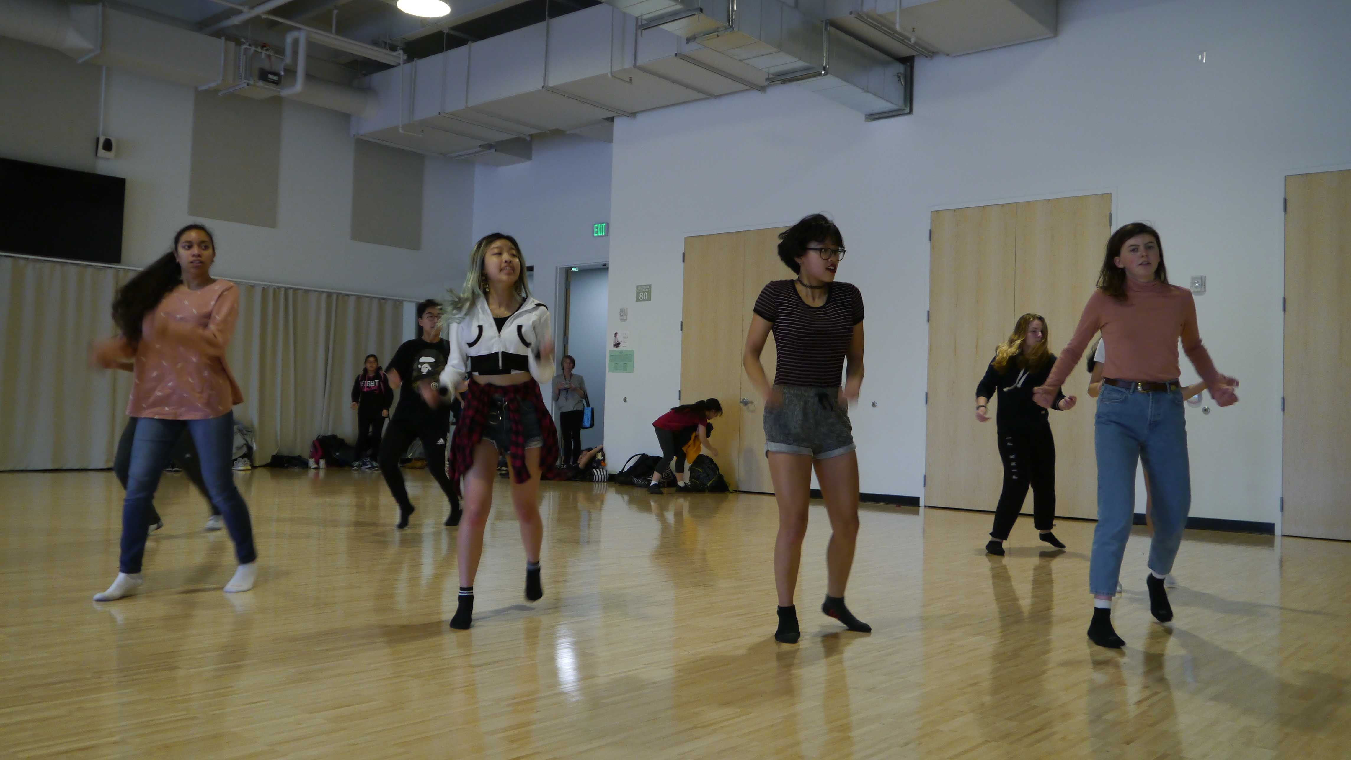 "The Palo Alto High School K-Pop dance club practices for their upcoming competition this weekend. Co-president senior Chloe Hong considers K-Pop one of her major hobbies. ""Some friends at a summer camp introduced me to K-Pop dancing ... I was hooked,"" Hong said."