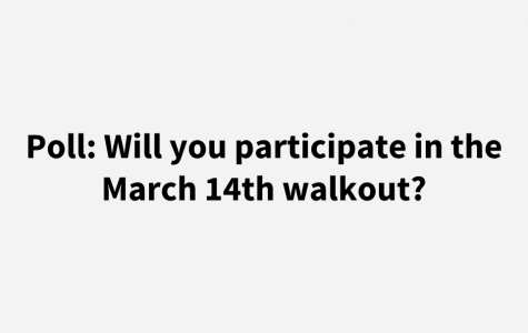 Poll: Will you participate in the March 14th walkout?