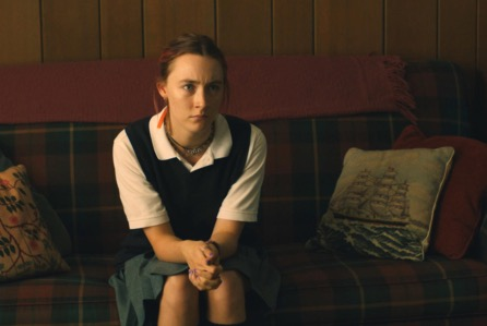 "Christine ""Lady Bird"" McPherson (left), played by Saoirse Ronan, is incessantly at odds with her stubborn, cynical mother (right), played by Laurie Metcalf. [[both]] The actors bring their respective characters to life with nuance and elegance, earning them both Oscar nominations this year in conjunction with the film's nomination for Best Picture. Photo: A24 Films"