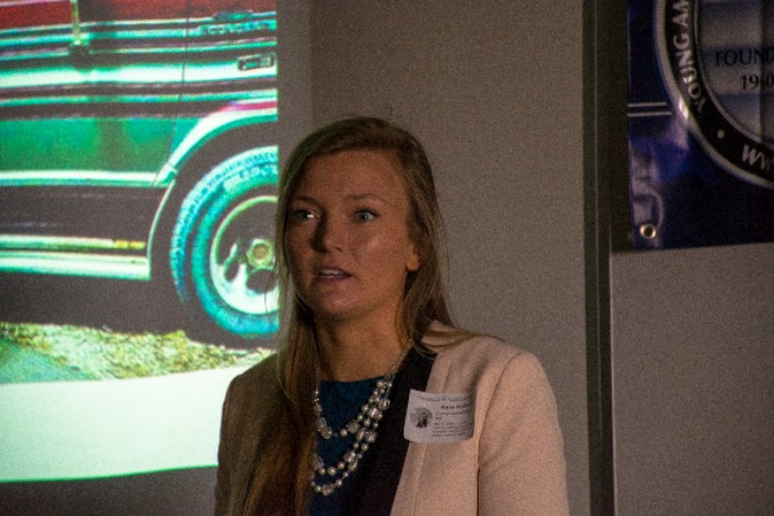 "Anti-abortion activist Anna Hoduski describes her cross-country journey across the U.S. to spread awareness on the anti-abortion movement. Palo Alto High School's chapter of Young Americans for Freedom, a conservative activist group, organized the presentation. """"People every single day stand up to protect eagle eggs and sea turtle eggs, while our own children are being dismembered, burned, and poisoned to death,"" Hoduski said."