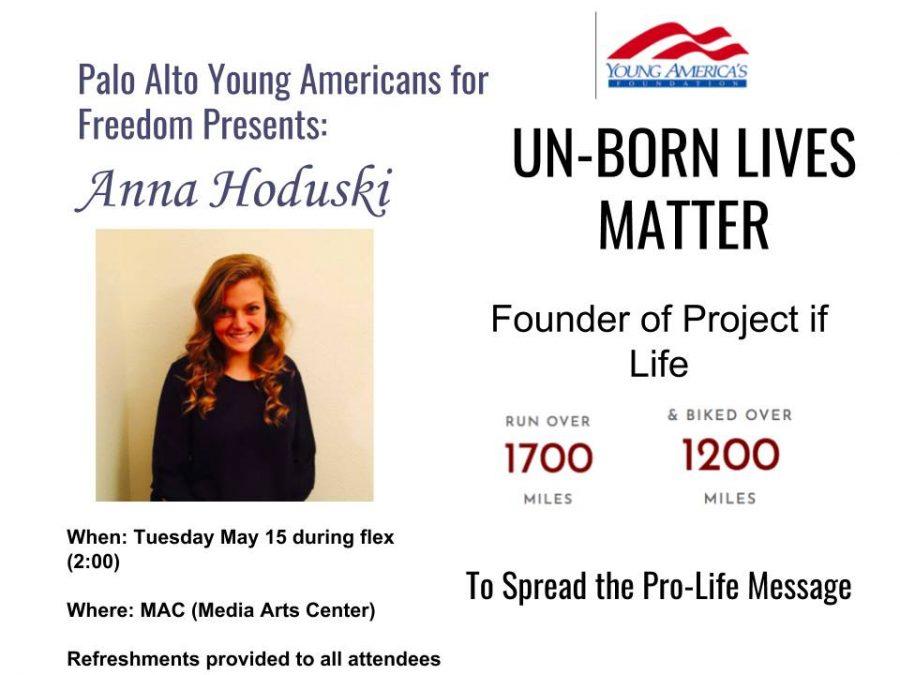Pro-life speaker to present on campus