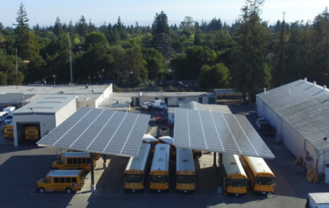Solar panels finished in parking lot, corp. yard