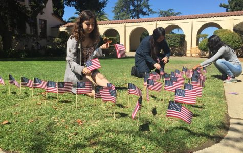 Students create 9/11 Memorial in Senior Courtyard
