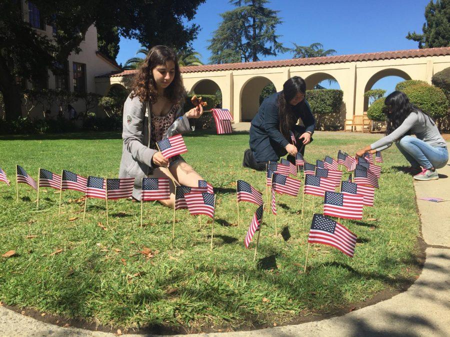 Students create 9/11 Memorial in Senior Courtyard
