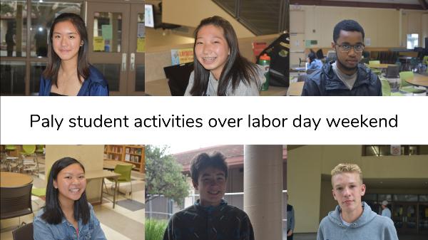 Verbatim: Student activities over Labor Day weekend