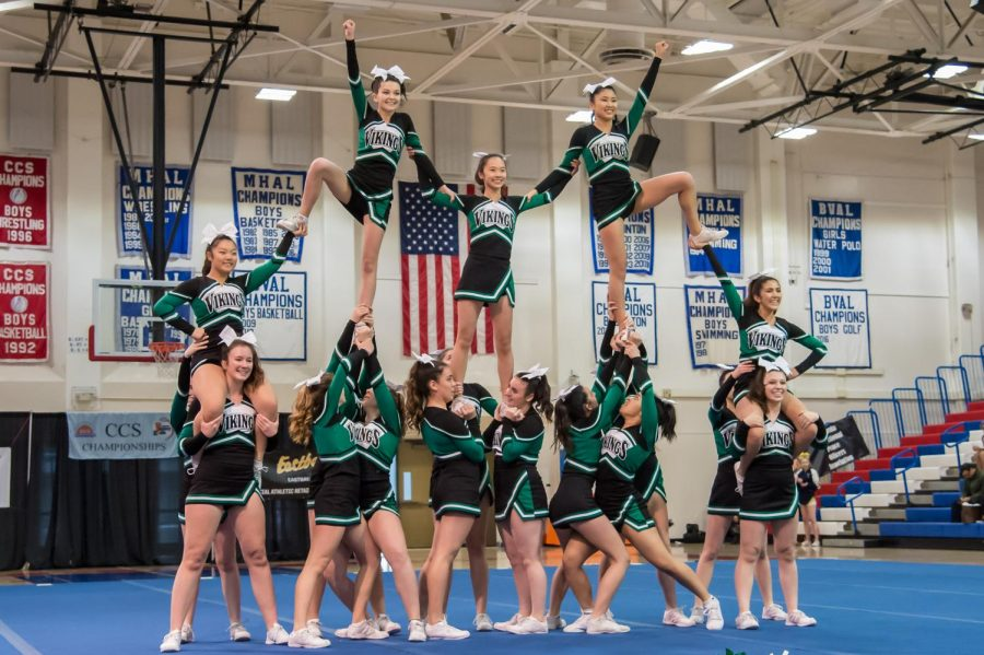 Varsity cheer wins first-ever CCS Cheer Championship