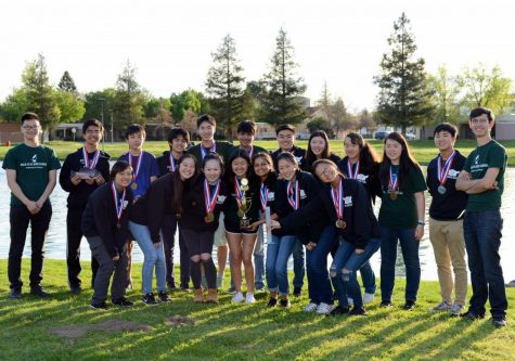Debate team celebrates after victorious weekend