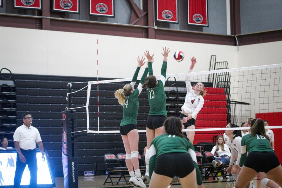 Girls' Volleyball triumphs over crosstown rival Gunn