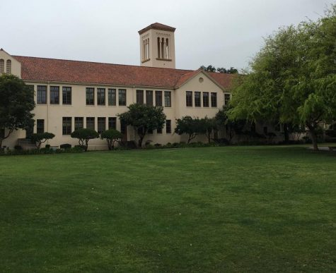"An empty Palo Alto High School quad. With over half of this year spent in virtual schooling, the Paly community lacks in-person connection. Brent Kline, Paly's new prinicipal.  ""I"