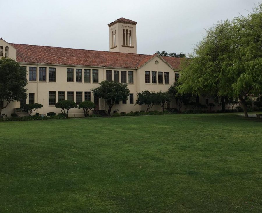 An empty Palo Alto High School quad. With over half of this year spent in virtual schooling, the Paly community lacks in-person connection. Brent Kline, Paly's new prinicipal.
