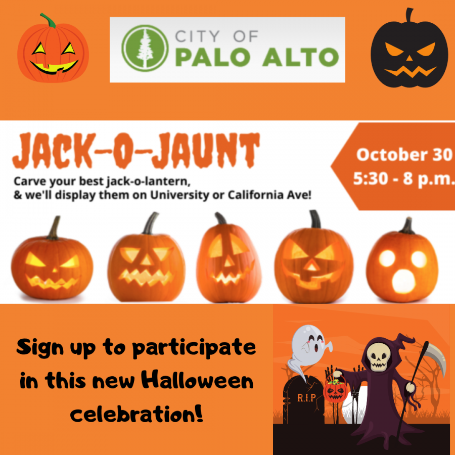 The Jack o' Jaunt is a pumpkin carving contest where the community member's artistic talent in the pumpkin carving will be judged by some city officials on at 5:30 p.m. on Friday