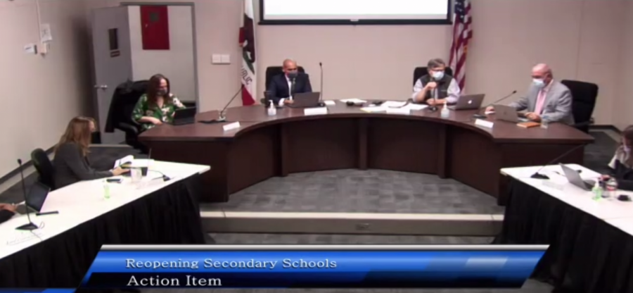 Gunn+High+School+teachers+wrote+an+open+letter+to+the+Palo+Alto+Unified+School+District+requesting+a+reconsideration+of+the+reopening+plan+unanimously+passed+by+the+school+board.+In+addition+to+detailing+misleading+comments+from+the+meeting%2C+the+letter+discusses+safety+risks+and+damages+to+student+education+that+could+result+from+the+plan.+School+board+member+Ken+Dauber+said+the+board+remains+firm+on+their+stance+on+reopening%2C+nevertheless.+%E2%80%9CIt+would+be+astonishing+if+we+got+through+these+complicated+choices+without+there+being+disagreement%2C%E2%80%9D+Dauber+said.+%E2%80%9CDoesn%27t+mean+that+I+don%27t+understand+the+positions+that+people+have+or+that+I%27m+not+listening.+It%27s+just+that+%E2%80%A6+we%27re+looking%2C+I+think%2C+at+the+total+situation%2C+and+trying+to+achieve+these+outcomes%2C+and+serve+these+values.%E2%80%9D