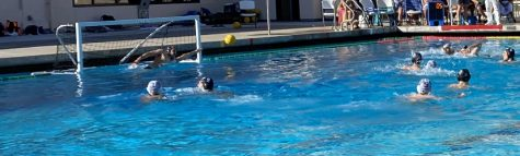 Junior Etain Green dives for the ball during the varsity boys