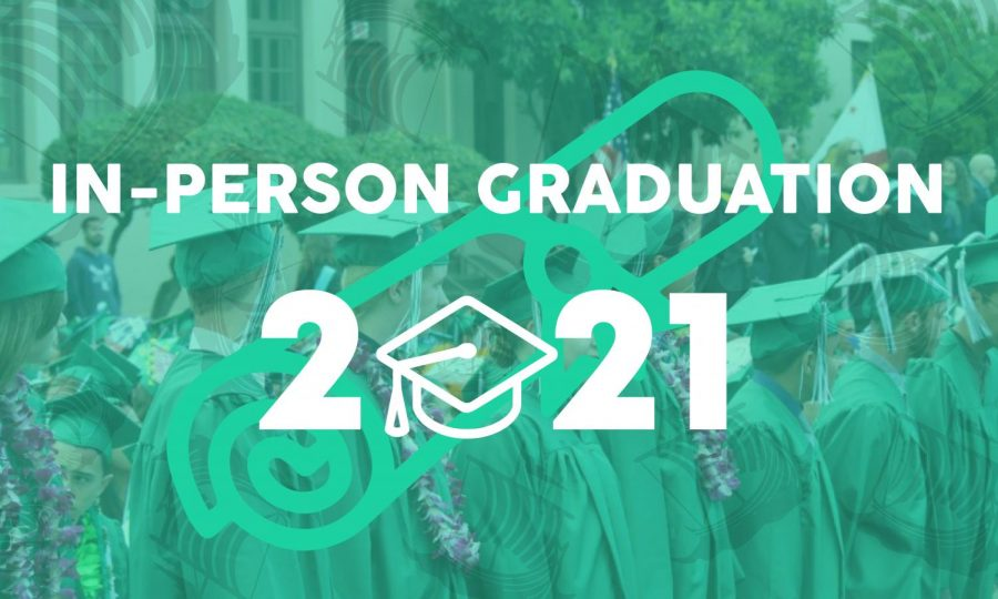 In-person graduation confirmed for class of 2021